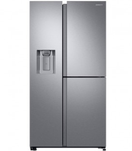 Side by Side Samsung, 608 l, Clasa A+, H 178 cm, No Frost, Compresor Digital Inverter, Twin Cooling Plus, Inox, RS68N8650SL
