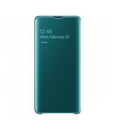 Husa Clear View Standing Cover Samsung Galaxy S10, Green