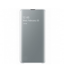 Husa Clear View Standing Cover Samsung Galaxy S10, White, EF-ZG973CWEGWW