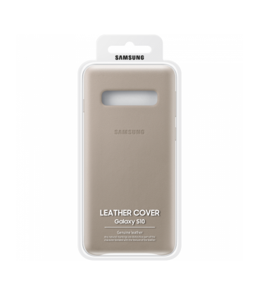 Husa Leather Cover Samsung Galaxy S10, Gray