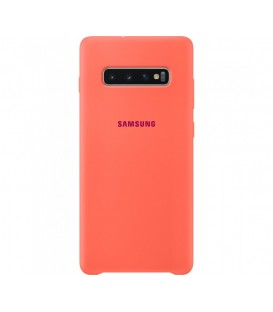 Husa Silicone Cover Samsung Galaxy S10+, Berry Pink, EF-PG975THEGWW