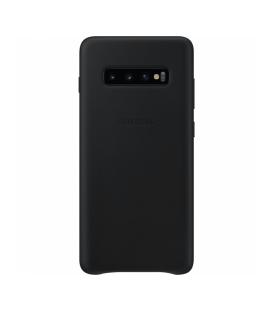 Husa Leather Cover pentru Samsung Galaxy S10+, Black, EF-VG975LBEGWW