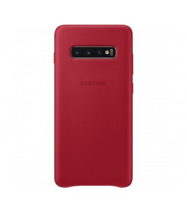 Husa Leather Cover pentru Samsung Galaxy S10+, Red, EF-VG975LREGWW