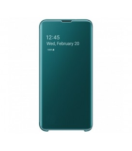 Husa Clear View Standing Cover Samsung Galaxy S10E, Green, EF-ZG970CGEGWW