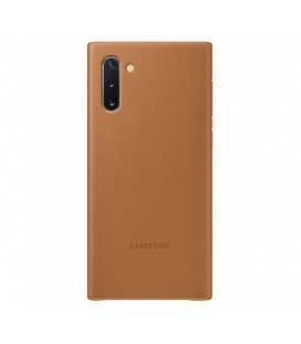 Husa Leather Cover pentru Samsung Galaxy Note 10+, Camel EF-VN975LAEGWW