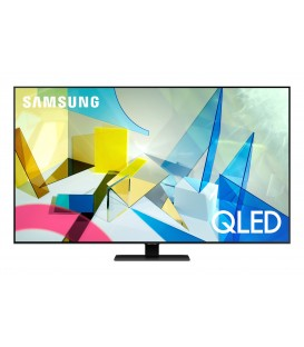 QLED Smart Samsung QE55Q80TA, 138 cm, Quantum Dot, Quantum 4K, Wide Viewing Angle, Direct Full Array 8x, CARBON SILVER