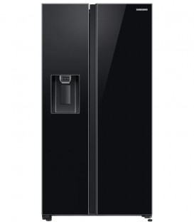 Side by Side Samsung RS65R54112C, 617 l, Clasa A+, H 178 cm, Full No Frost, Compresor Digital Inverter, Negru