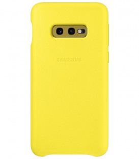 Husa Leather Cover pentru Samsung Galaxy S10e, Yellow, EF-VG970LYEGWW
