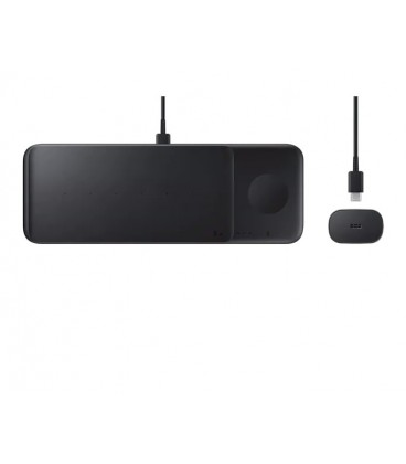 Stand incarcare wireless, Trio Pad, Fast Charging, Black, EP-P6300TBEGEU