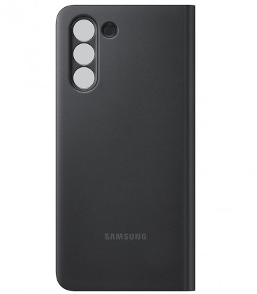 Husa Samsung Galaxy S21, Smart Clear View Cover, Black EF-ZG991CBEGEE