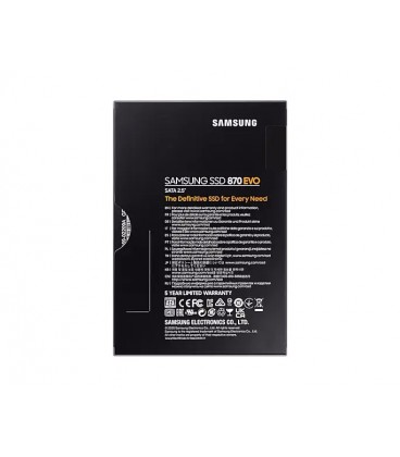 """SSD Samsung MZ-77E2T0B/EU, 870 EVO, 2TB, SATA, 2.5"""", V-NAND 3bit MLC, Cache 512 MB Low Power DDR4 SDRAM"""