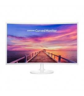 Monitor LED VA Samsung LC32F391FWUXEN, Curved, Wide, FHD, HDMI, DisplayPort, Flicker-Free, 32'', Alb