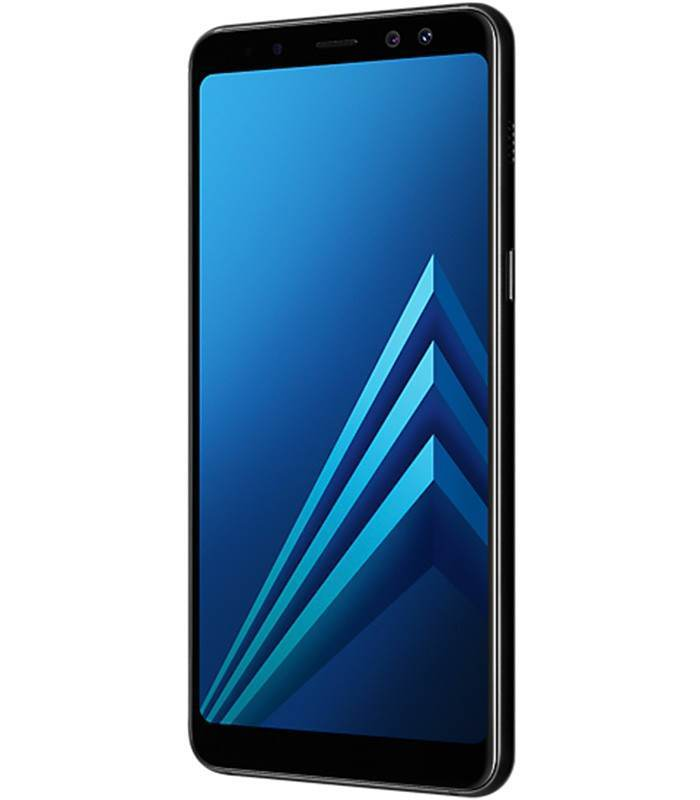 telefon mobil samsung galaxy a8 2018 dual sim 32gb lte black. Black Bedroom Furniture Sets. Home Design Ideas