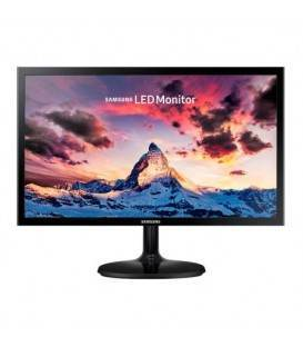 "Monitor LED PLS Samsung 23.5"", Wide, FHD, HDMI, Flicker-Free, LS24F350FHUXEN, Negru"