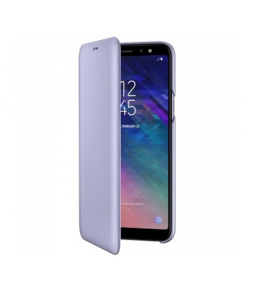 Husa Flip Wallet Samsung Galaxy A6 Plus (2018), Orchid Gray
