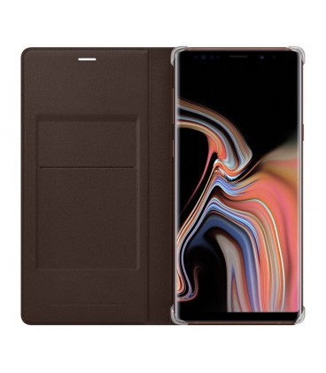 Husa Leather Wallet Cover Samsung Galaxy Note 9, Brown