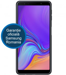 Telefon Samsung Galaxy A7 (2018), Dual SIM, 64GB, 4GB RAM, Black, Triple Camera, A750