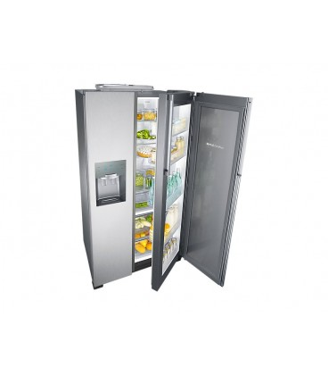 Side by side Samsung RH56J6917SL, 555 l, Clasa A+, H 179.4 cm, No Frost, Compresor Inverter, Twin Cooling, Inox